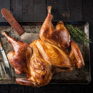 20181024 Spatchcocked Maple Brined Turkey IN