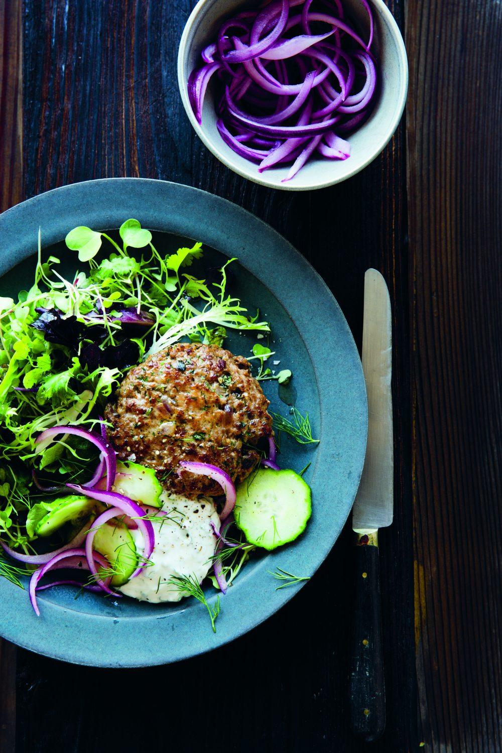 Lamb burgers with Yogurt sauce