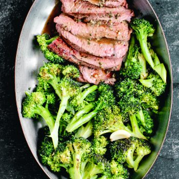 Shasta Cut Steak with Chili-Roasted Broccoli and Lemons